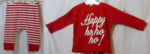 NEW-Next-Baby-Boys-Red-2-Piece-Xmas-Top-Trouser-Outfit-Set-Age-0-3-6-Months