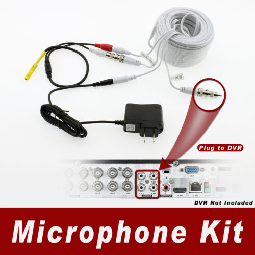 150ft NightOwl Surveillance Security System Microphone Kit for All NightOwl CCTV