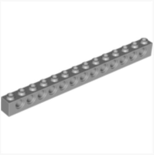 Ø4,9 /_ Medium Stone Grey 4211705/_LEGO Technic Brick 1x14 32018 Lot of 4