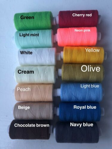 14 colours POLYESTER THREAD BUY 5 GET 3 FREE dressmaking sewing embroidery
