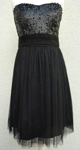 ESPRIT Damen Kleid Cocktailkleid Ballkleid Abiball Abendkleid Schwarz 38-42 Neu