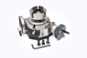 ROTARY TABLE 4//100MM WITH 70MM INDEPENDENT CHUCK /& BACKPLATE