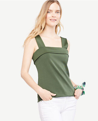 ANN TAYLOR V-NECK TANK NEW X-SMALL SMALL MEDIUM GREEN MADE IN USA