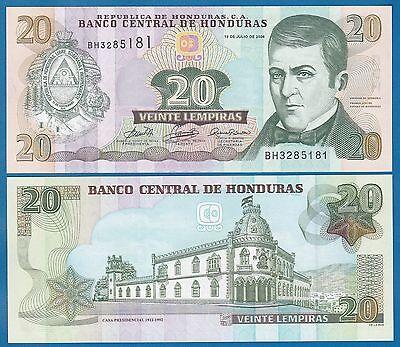 Honduras 20 Lempiras P 93 a 2006 UNC Low Shipping! Combine FREE!  (P-93a)