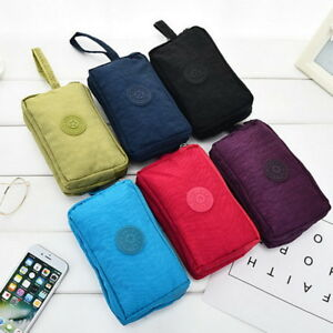 Travel-Phone-Bag-Short-Wallet-Three-Zipper-Purse-Big-Size-Coin-Purse
