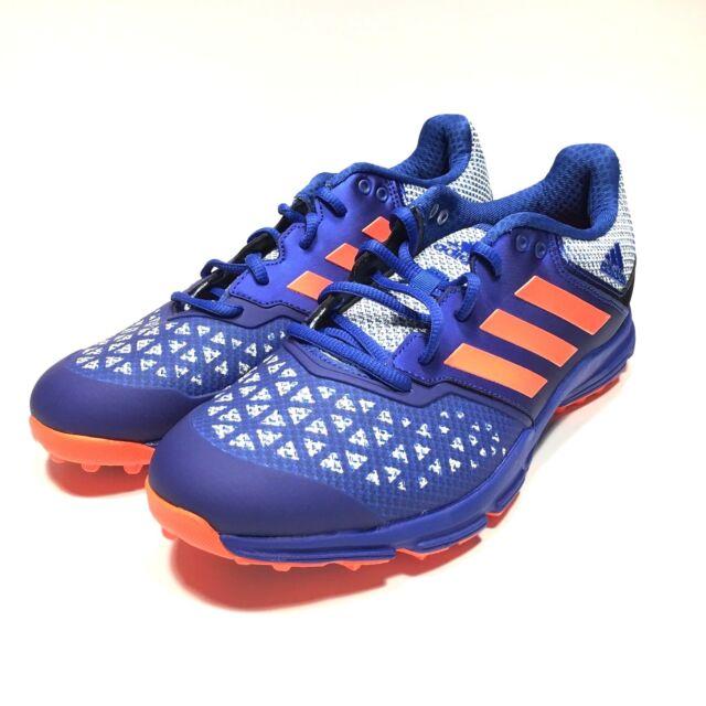 Adidas Zone Dox Hockey Shoe Blue Orange Trainers Cleats AQ6520 ...