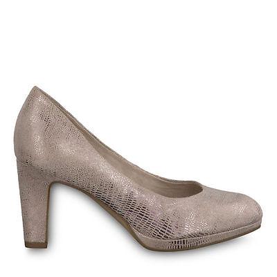 Tamaris 1 1 22420 28 579 Schuhe Damen Plateau Pumps Michelle rose metallic | eBay