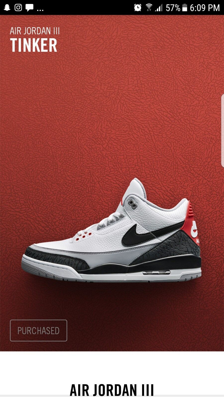 Nike Air Jordan Retro 3 NRG SZ 11 Tinker Hatfield White Cement OG