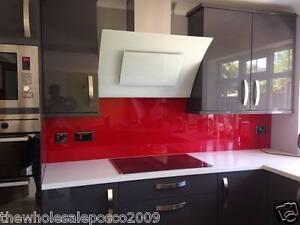 Dettagli su Rosso Acrilico Perspex Paraspruzzi per Cucina & Da bagno