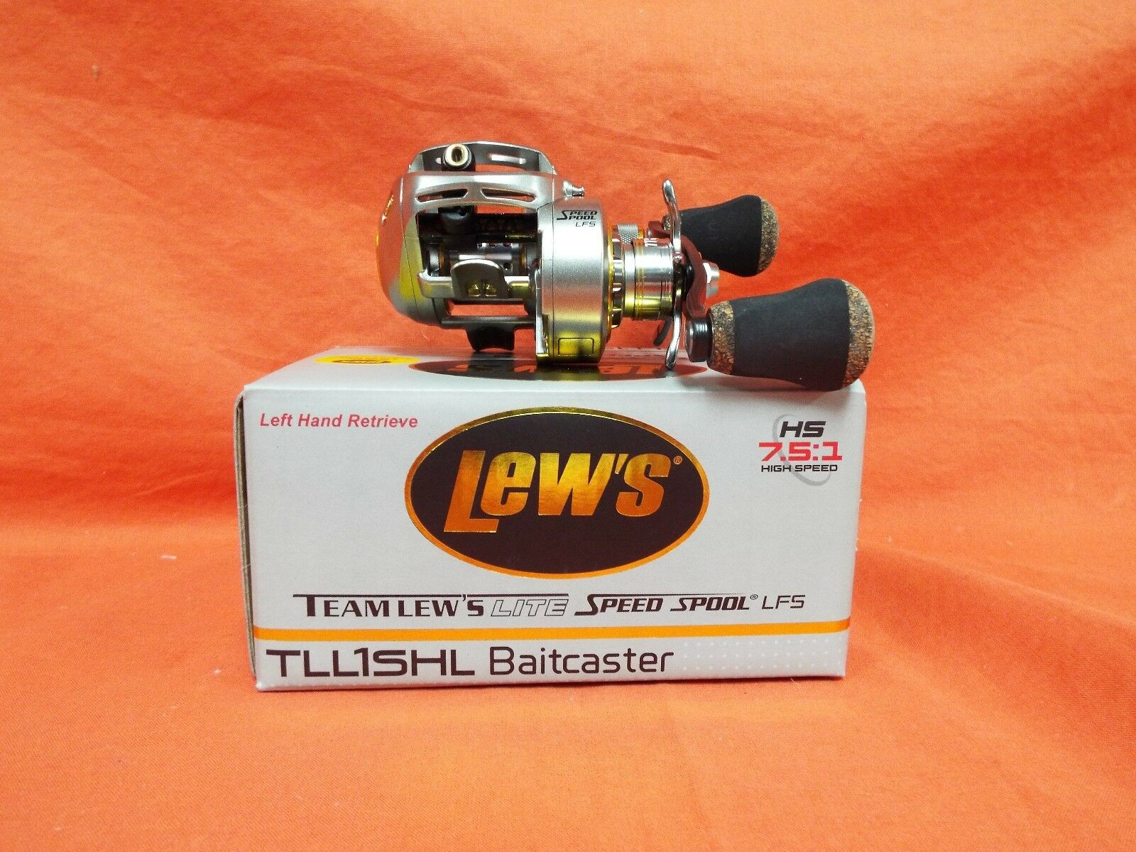 LEW'S MGF Lite Speed Spool Left Handed Baitcast Reel Gear Ratio 7.5 1 TLL1SHL