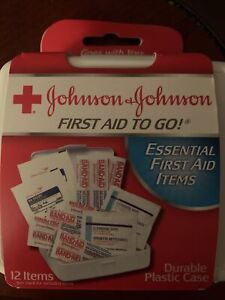 Johnson & Johnson First Aid To Go! Portable Mini Travel Kit - 12pc