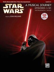 STAR-WARS-A-Musical-Journey-Episodes-I-VI-Violin-Book-amp-CD-NEW-Sheet-Music