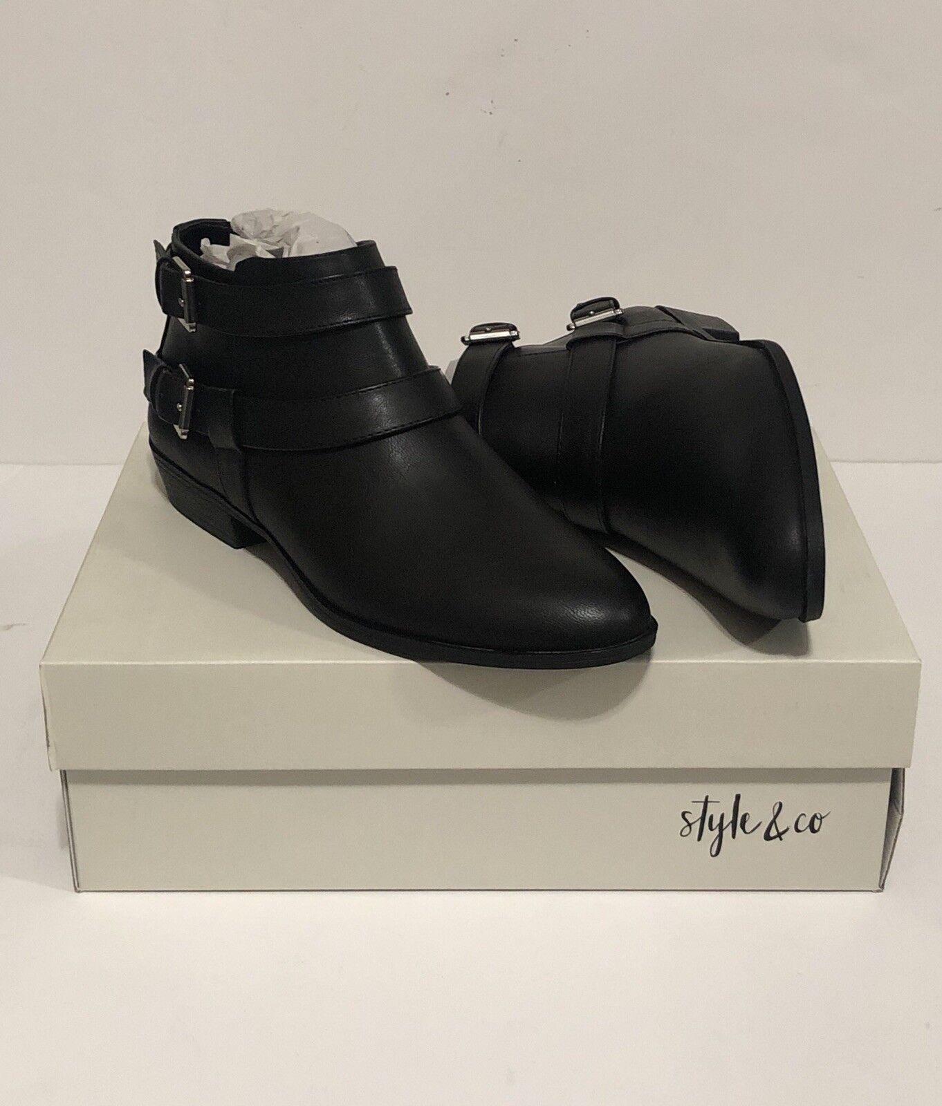 STYLE & CO. FEMME Deenah Chelsea Bottines Bottillons noir 9 m Retail  69.50
