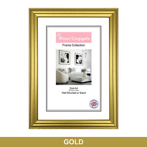 Gold Picture Frames Classic Photo Poster Frame Wall Hanging Mounting A1 A2 A3 A4