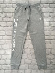 buy release date search for newest Details about EMPORIO ARMANI EA7 LADIES UK XS GREY WHITE LOGO JOGGERS  CASUAL ACTIVEWEAR SPORTS