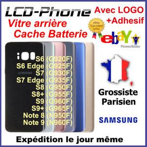 Vitre-arriere-Samsung-Galaxy-S6-Edge-S7-S8-S9-Plus-Note-8-9-Avec-logo-Adhesif