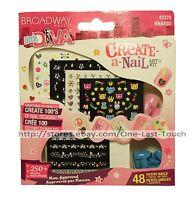 Broadway Little Diva Create-a-nail Art Kit 48 Press-ons+stickers 02370 3/3