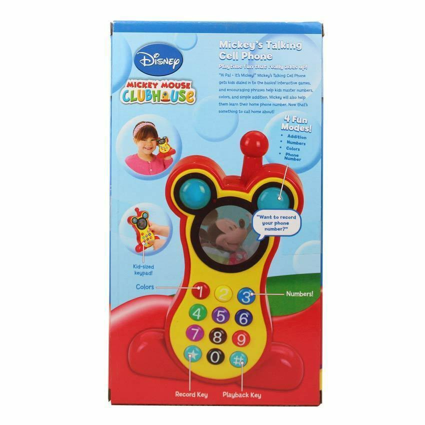 Disney Mickey Mouse Club House Talking Cell Mobile Phone Toy With ...