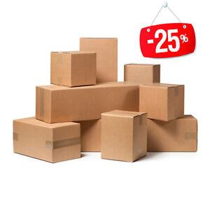 20-Stuecke-Box-Karton-Verpackung-Versand-35x25x10cm-Box-Havanna