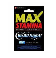 Max Stamina Maximum Sexual Stimulant 4 Packs Of 2 (8 Pills)