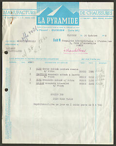 44 Clisson Manufacture De Chaussures La Pyramide Facture 1958 Lrfh5uje-07235158-642232866