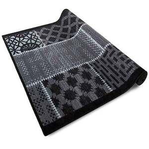 teppichl ufer patchwork design grau anthrazit teppich l ufer dunkelgrau g nstig ebay. Black Bedroom Furniture Sets. Home Design Ideas