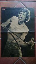 Rolling Stones Mick Jagger  - Plakat - Poster -  Bravo von 1982 -  Rare