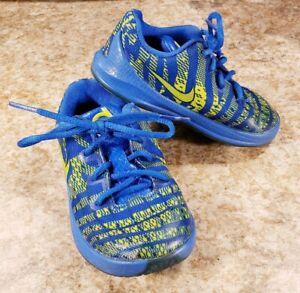 Détails sur Nike KD 6 C VIII Toddler Bleu Jaune Lacets Athletic afficher le titre d'origine