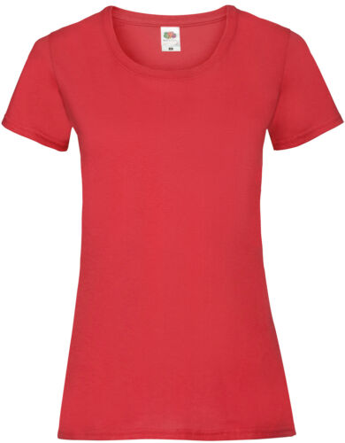 5er Pack Fruit of the Loom Valueweight T Lady-Fit Damen T-Shirts Set 5 NEU