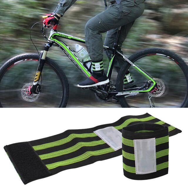 1 Pair Cycling MTB Bike Cycle Bind Elastic Trousers Pants Band Leg Strap 35mm