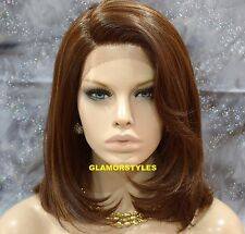"""22"""" Bob Brown Mix Full Lace Front Wig Hair Part Heat Ok Hair Piece #P4/27/30"""