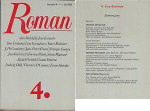 C1-ROMAN-Revue-4-1983-COUPRY-Les-Dessous-RADCLIFFE-Eustache-CARTANO-Vautrin