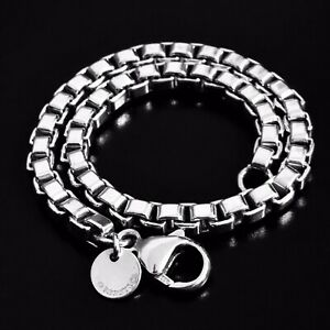 Tiffany-amp-Co-Venetian-Box-Chain-Link-Bracelet-925-Sterling-Silver-Authentic-7-5