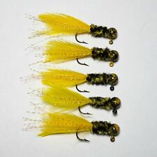 6 each Custom Baits 1//16 oz # 4 Hook Krystal Ice Fishing Crappie Perch Jigs