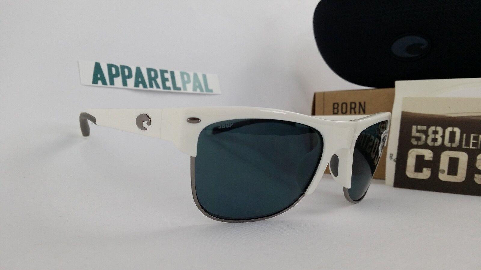 New Costa Del Mar Pawleys Polarized Sunglasses 580P biancagrigio Fishing