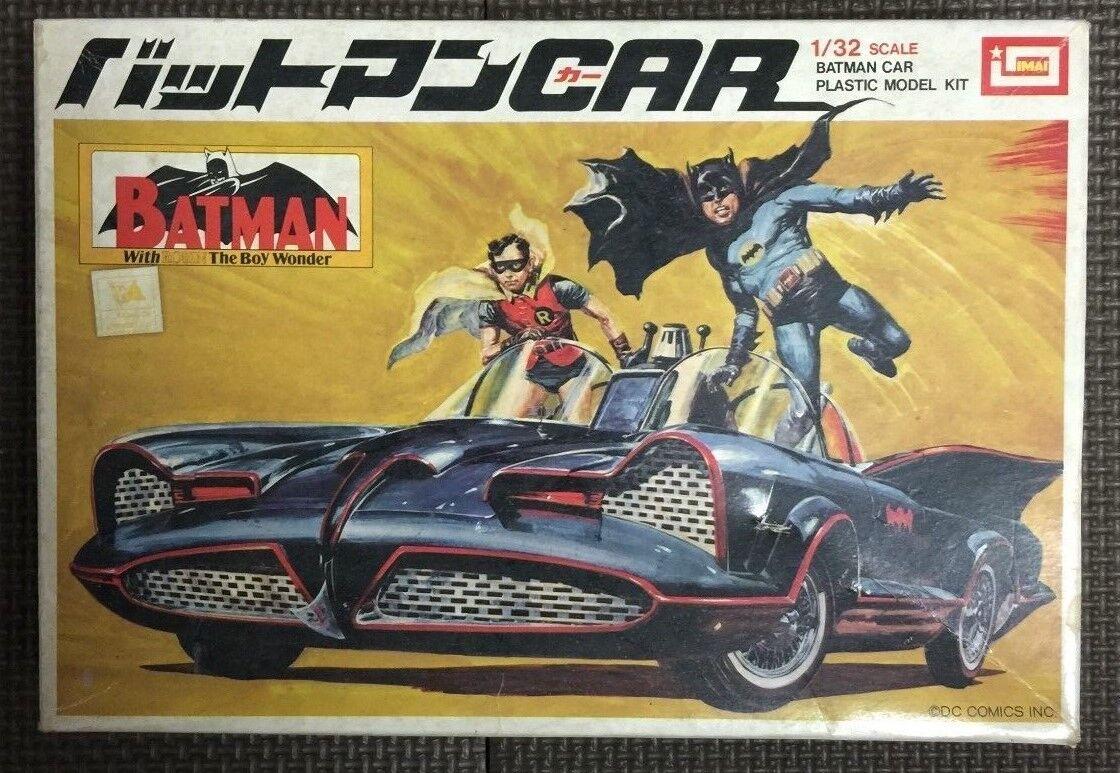 Raro Imai Batuomo Batmobile Plastic modellolo JAPAN