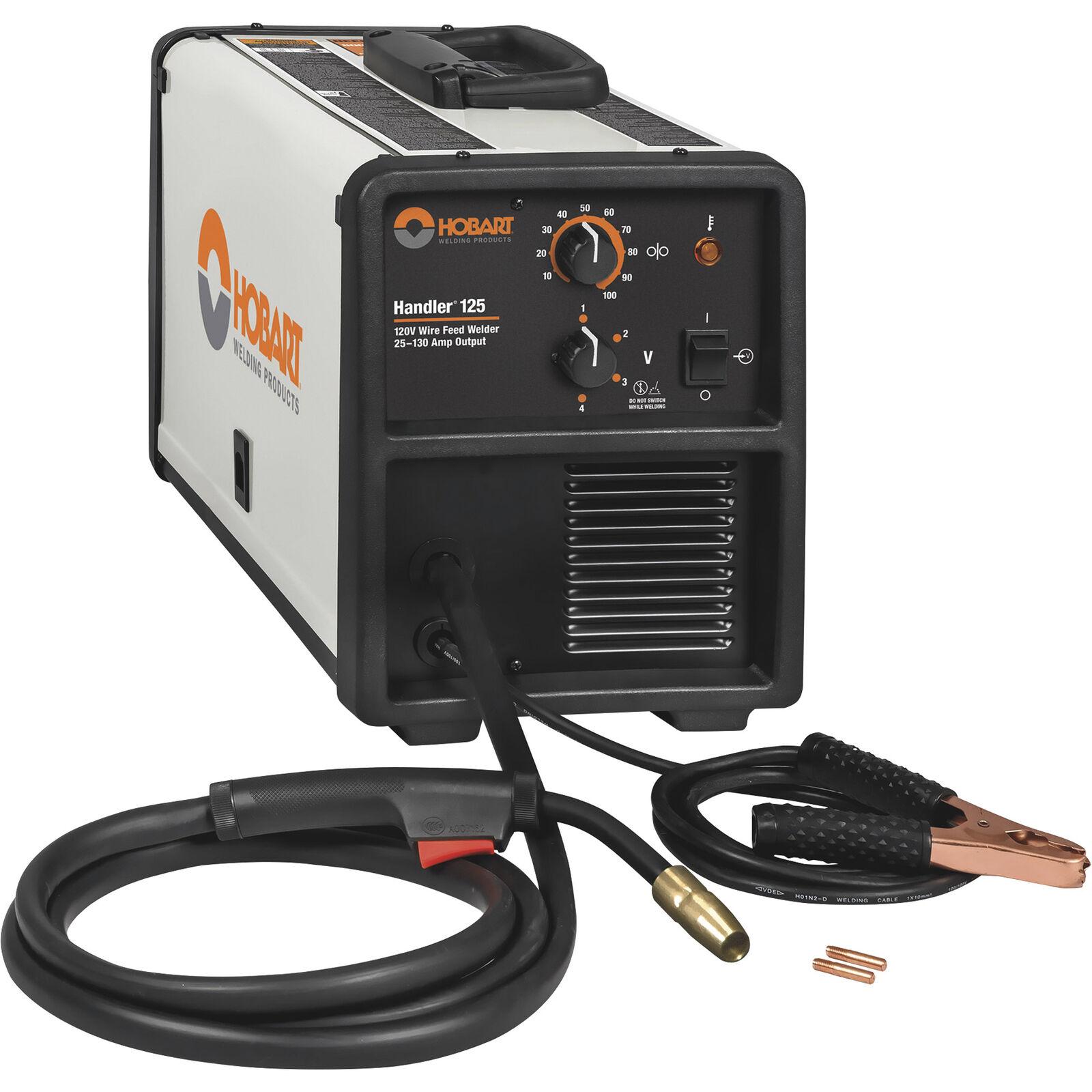 Hobart Handler 125 Flux-Cored/MIG-Ready Welder Transformer 120V 25-130A Output. Buy it now for 354.99