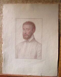 Vintage-HOLBEIN-Engraving-MONS-La-FAILLE-C-1794-Bartolozzi