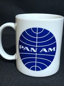 Have An Inquiring Mind Vintage Pan Am Airlines Coffee Mug Cup Orignal 1970s Merchandise & Memorabilia