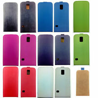 Luxury Genuine Real Leather Flip Case Cover For Samsung Galaxy S5 UK SELLER