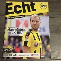 BVB @ BORUSSIA DORTMUND@ Stadionmagazin ECHT@Heft Nr. 113@ BVB-Freiburg@M. Götze
