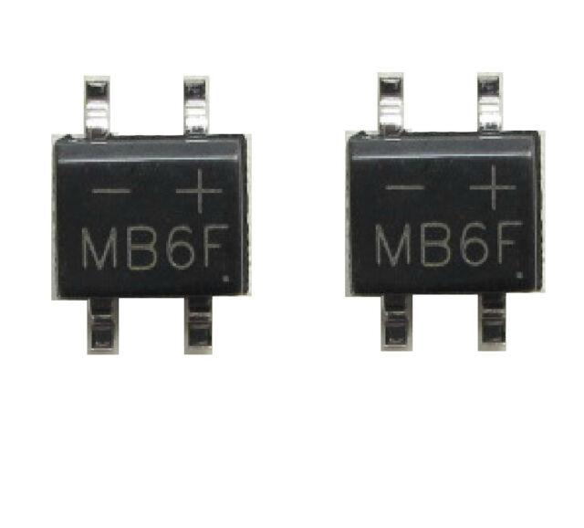 20PCS MB6F , 0.5A/600V ,SOP4 , Bridge Rectifier