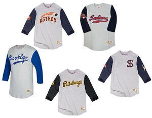 online store 0b249 8aa97 Mitchell & Ness MLB Scoring Position 3/4 Sleeve T-Shirt   eBay