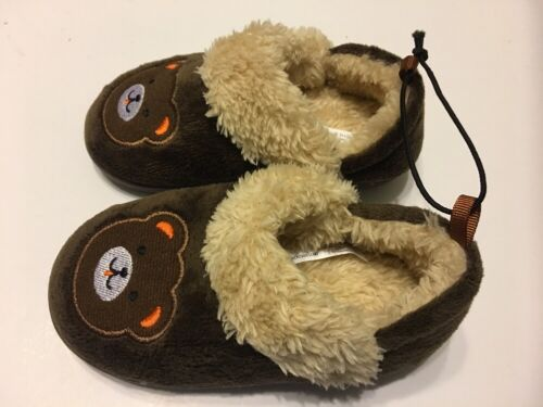 Garçons Chaussons Chaussures Petit 5-6 Ours brun bébé