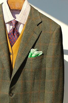 Ermenegildo Zegna 42R Green Check Wool/Cashmere 3-Roll/2 Blazer-Italy- $2,495.00
