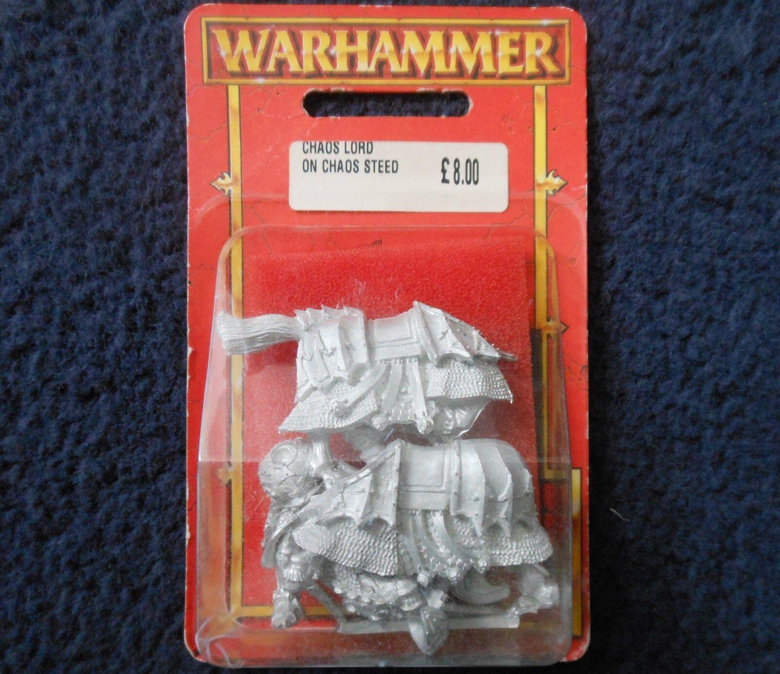 1998 Señor Caos en corcel Citadel Warhammer Guerreros Caos Montado caballería MIB GW