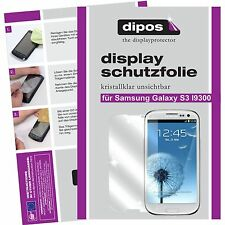 6x dipos Samsung Galaxy S3 i9300 Schutzfolie klar Displayschutz unsichtbar