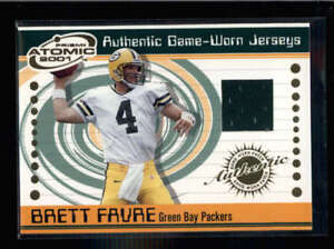 Brett Favre 2001 Pacific Atomic Prizm Authentic Game Worn Jersey Ac1243 Ebay