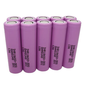 10X-18650-30Q-3000mAh-Li-ion-Rechargeable-Battery-Flat-Top-High-Drain-for-Mod