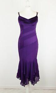 KAREN-MILLEN-Purple-Silk-Evening-Cocktail-Party-Midi-Handkerchief-Dress-UK-12-10